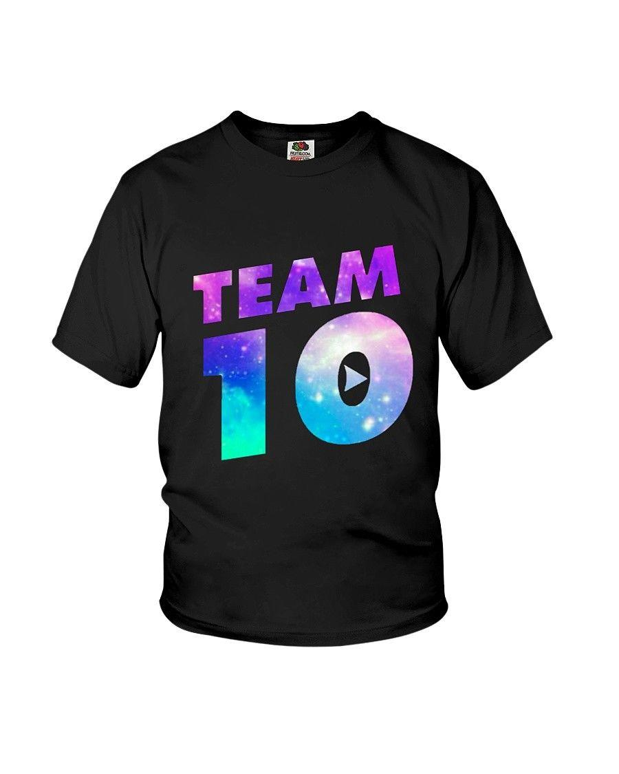 Team 10 Shirt Team 10 Galaxy Logo Jake Paul Merch Kids T Shirt