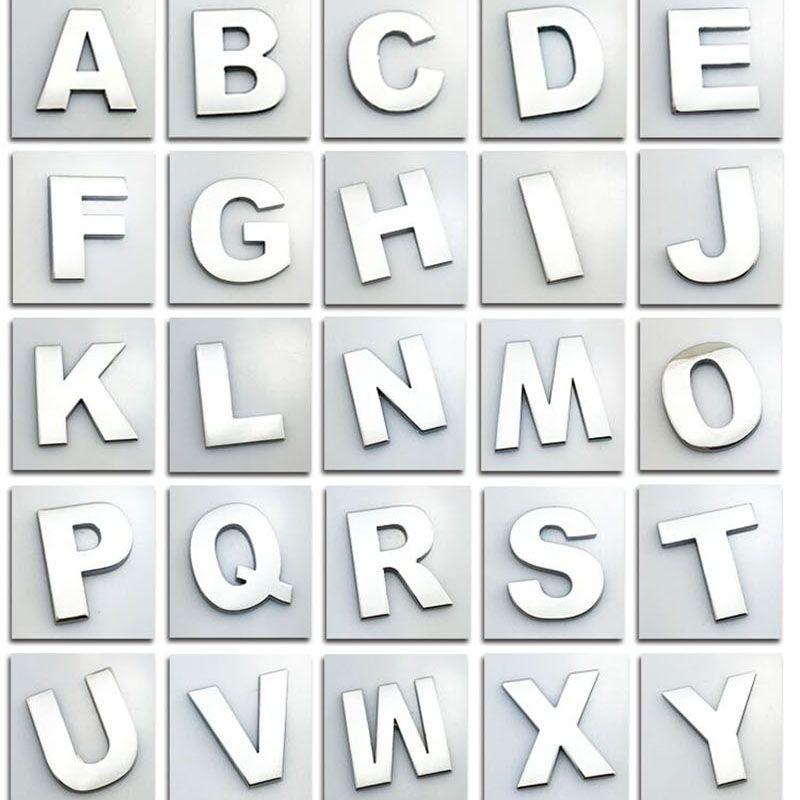 Aufkleber Metall Aufkleber Englisch Buchstaben Aufkleber A Bis Z Und 0 Bis 9 Nummer Digital Car 3d Wort Abzeichen