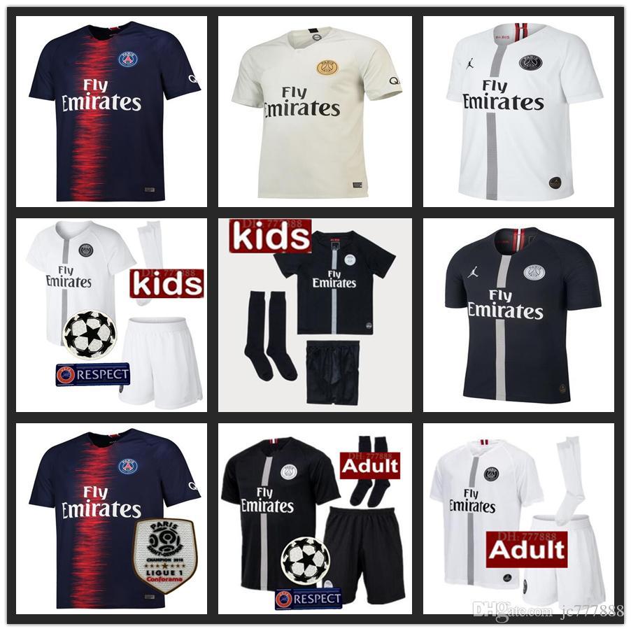 2019 Thailand Maillots PSG Soccer Jersey 2019 Paris MBAPPE Saint Germain Jersey  18 19 Survetement Football Kit Champions Shirt Men De Foot From Jc777888 4537f1dd7
