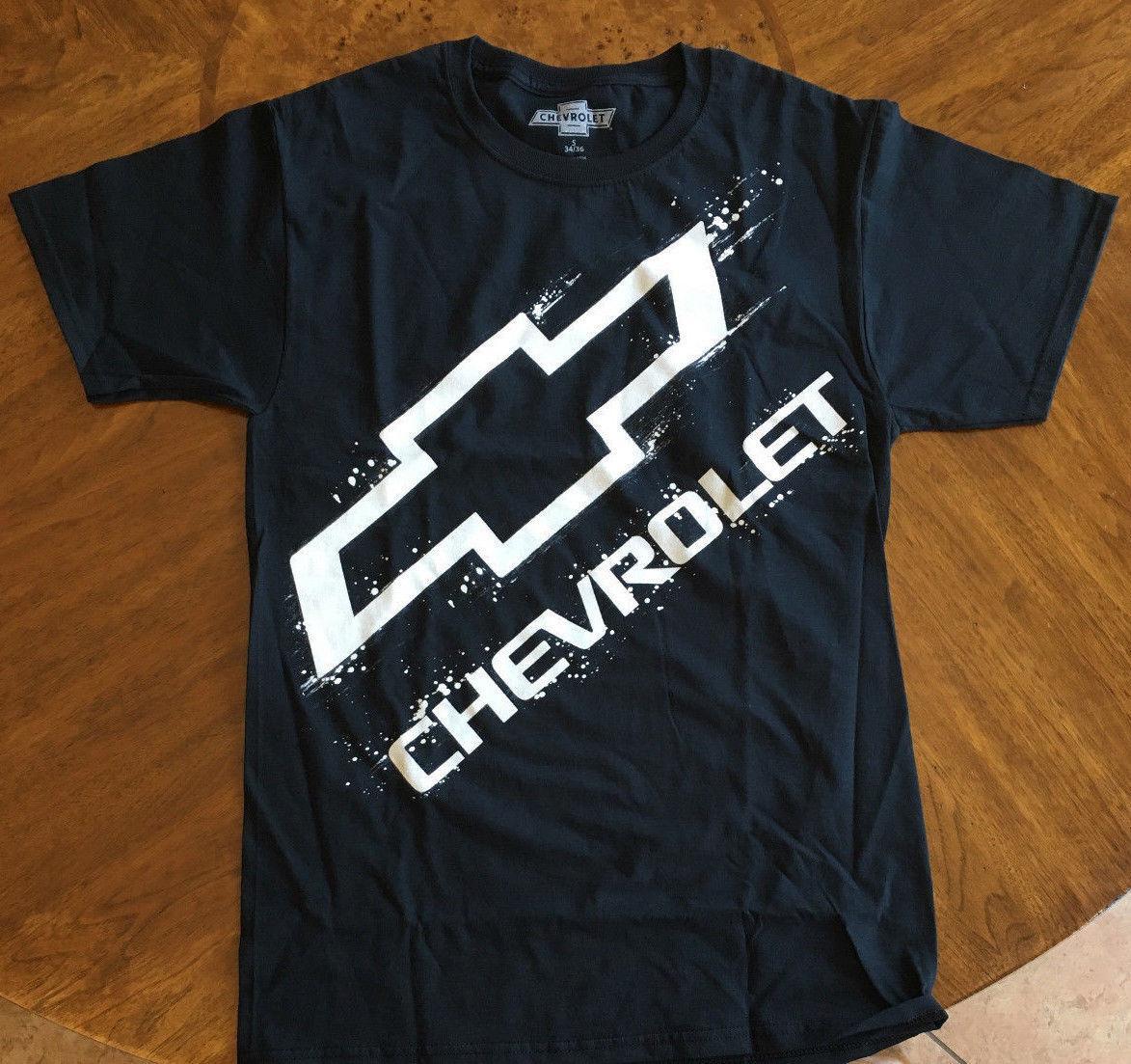 Chevy T Shirts >> Chevrolet Chevy Tee Erkek Boyutlari Gomlek Erkek S 3xl T Shirt Siyah Logo Lisansli Komik 100 Pamuk T Gomlek Renk Jurney Baski T Gomlek