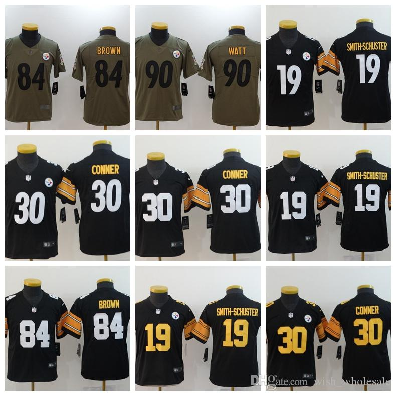 new product e11e4 fd4be Youth 7 Ben Roethlisberger 19 Juju Smith-Schuster 84 Antonio Brown 86 Hines  Ward T.J. Watt Jersey Pittsburgh Cheap Steelers Greene Jerseys