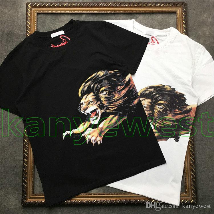 Summer Brand designer Top Men T-Shirt Men short sleeves Lion Print embroidery T Shirt Men Designer t shirt Tee high quality fashion T Shirts