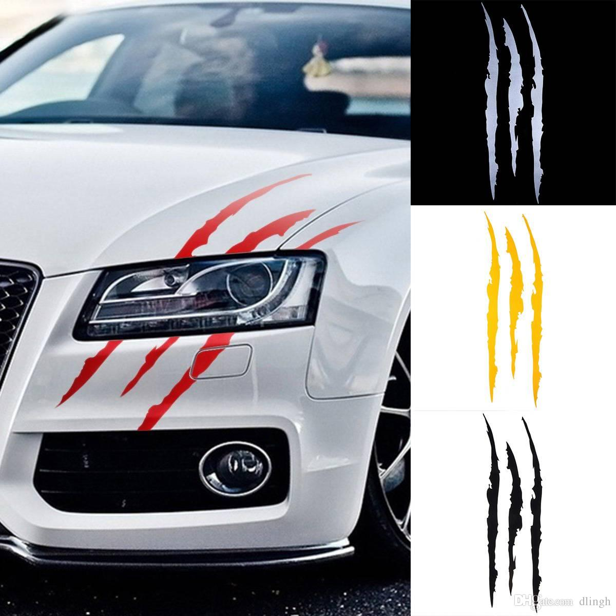 2019 auto car sticker reflective monster scratch stripe claw marks headlight decal 41cm12cm from dlingh 0 91 dhgate com