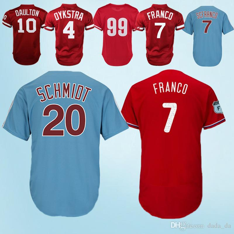 7102ec21d New 2018-2019 Phillies Jerseys 7 Maikel Franco 10 Darren Daulton 99 ...