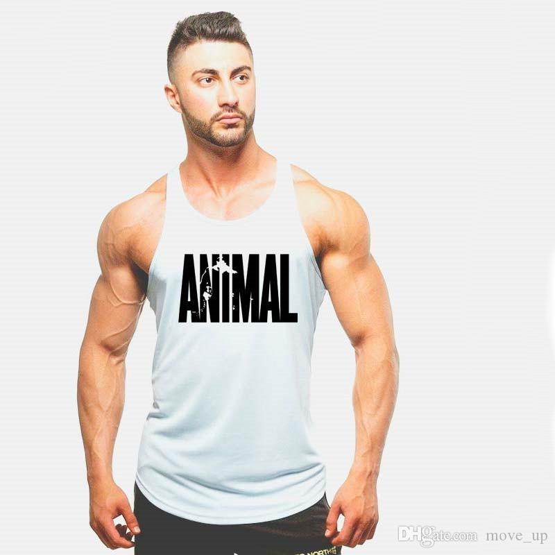 59900d7945e76 2019 2018 Animal Gyms Tank Top Men Workout Clothing Bodybuilding Stringer  Men Muscle Vests Cotton Y Back Singlets Fitness Homme  105694 From Move up
