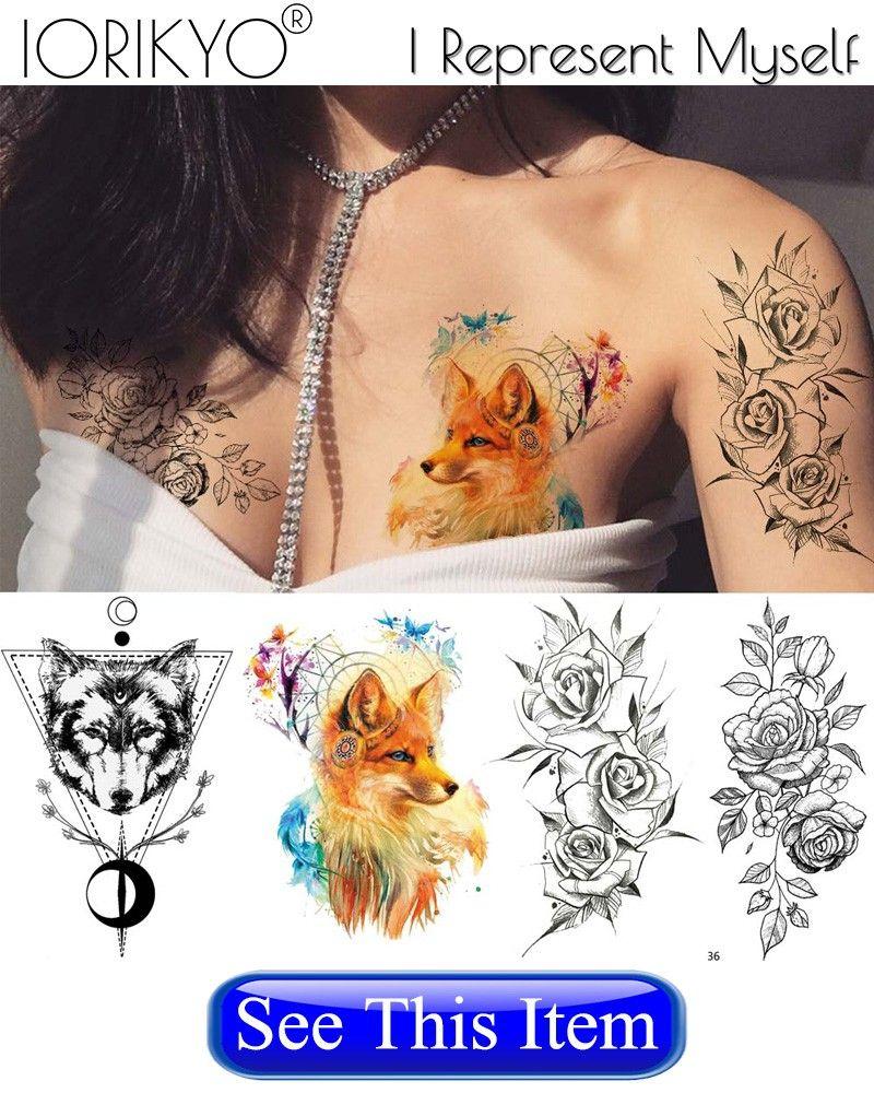 IORIKYO Pulseira Preta Flora Tatuagem Temporária Adesivos Mulheres Arte Corporal Flor Transferência De Água Braço Tatoo Meninas Falso Rose Tattoo