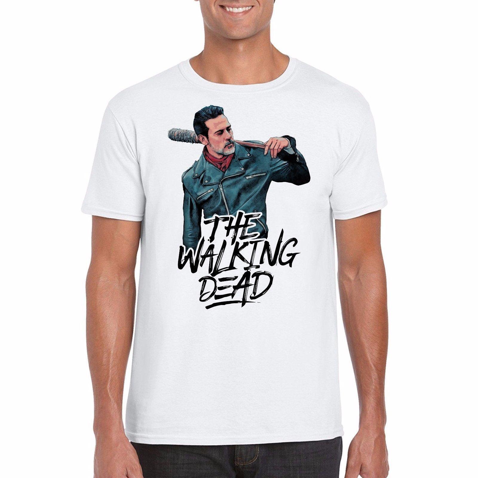 5176f4f29 The Walking Dead T Shirt Negan TV PosterFunny Unisex Tshirt Buy T Shirt  Design Buy Tee From Stylemixxuk, $12.96| DHgate.Com
