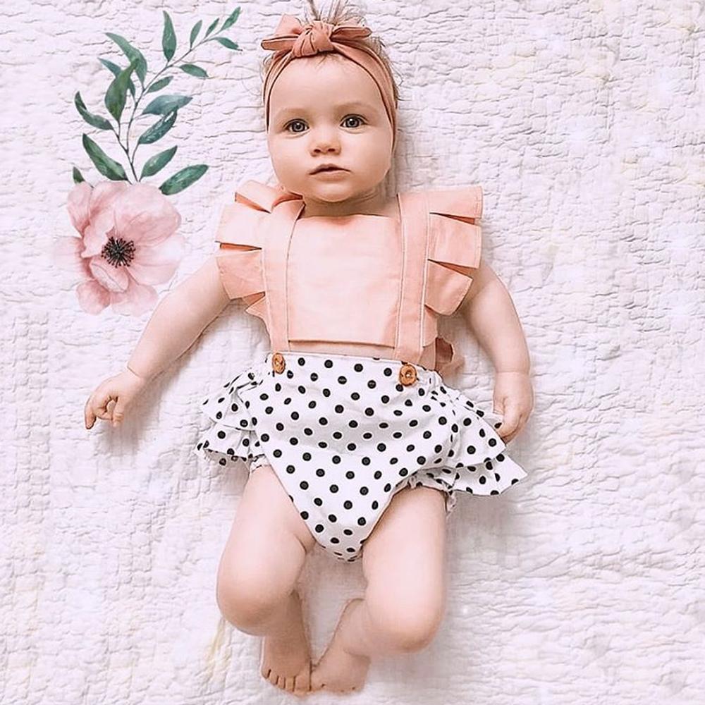Pudcoco 2019 infante appena nato di vendita del bambino vestiti della ragazza Lace Splice pagliaccetto Backless tuta Outfit prendisole Abbigliamento bambino caldo
