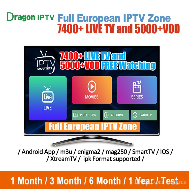 Dragon IPTV 1 year Sunatv iptv Subscription Android tv box APK m3u Smart tv  Arabic France Sweden Netherlands abonnement IPTV service