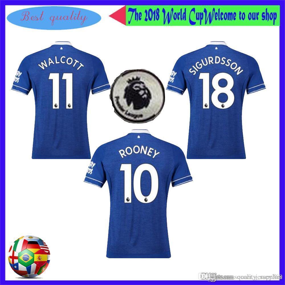 various colors fc77e 61ccb NEW 2018 19 Everton Jersey RICHARLISON WALCOTT Home Away 3rd SIGURDSSON  MINA TOSUN Everton Shirt 18 19 Football Shirt High Thailand Quality