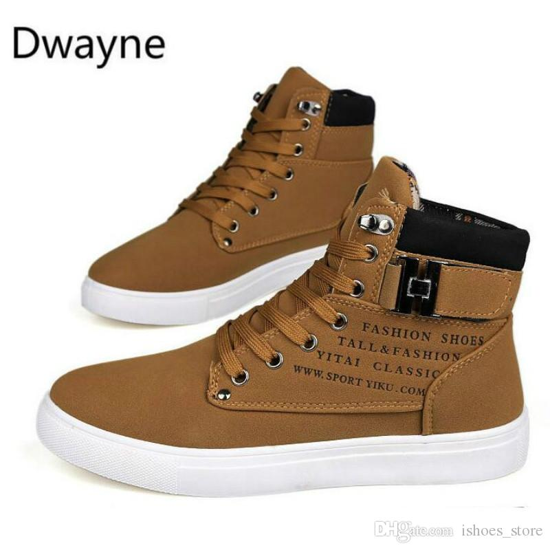 Dwayne Mens Vulcanize Shoes Men Spring Autumn Top Fashion Sneakers Lace-up High Style Solid Colors Man Shoes Discounts Sale Men's Vulcanize Shoes