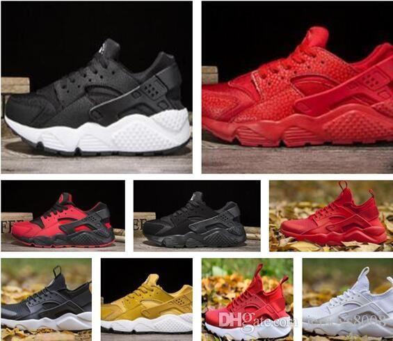 fdd694bb149f With Box 2018 Air Huarache 4.0 5.0 Classical Triple White Black Red Gold  Men Women Huarache Shoes Huaraches Sports Sneakers Running Suede Shoes Shoe  Sale ...