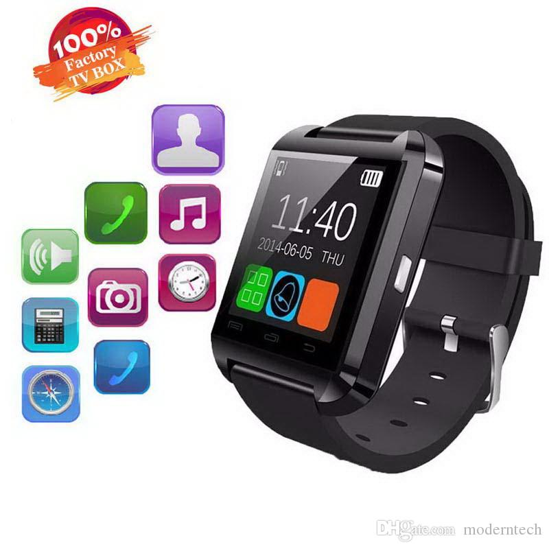 Original U8 Smart Watch Bluetooth Electronic Smart Wristwatch For Apple IOS Watch Android Smart Phone Watch Fitness Tracker Bracelet