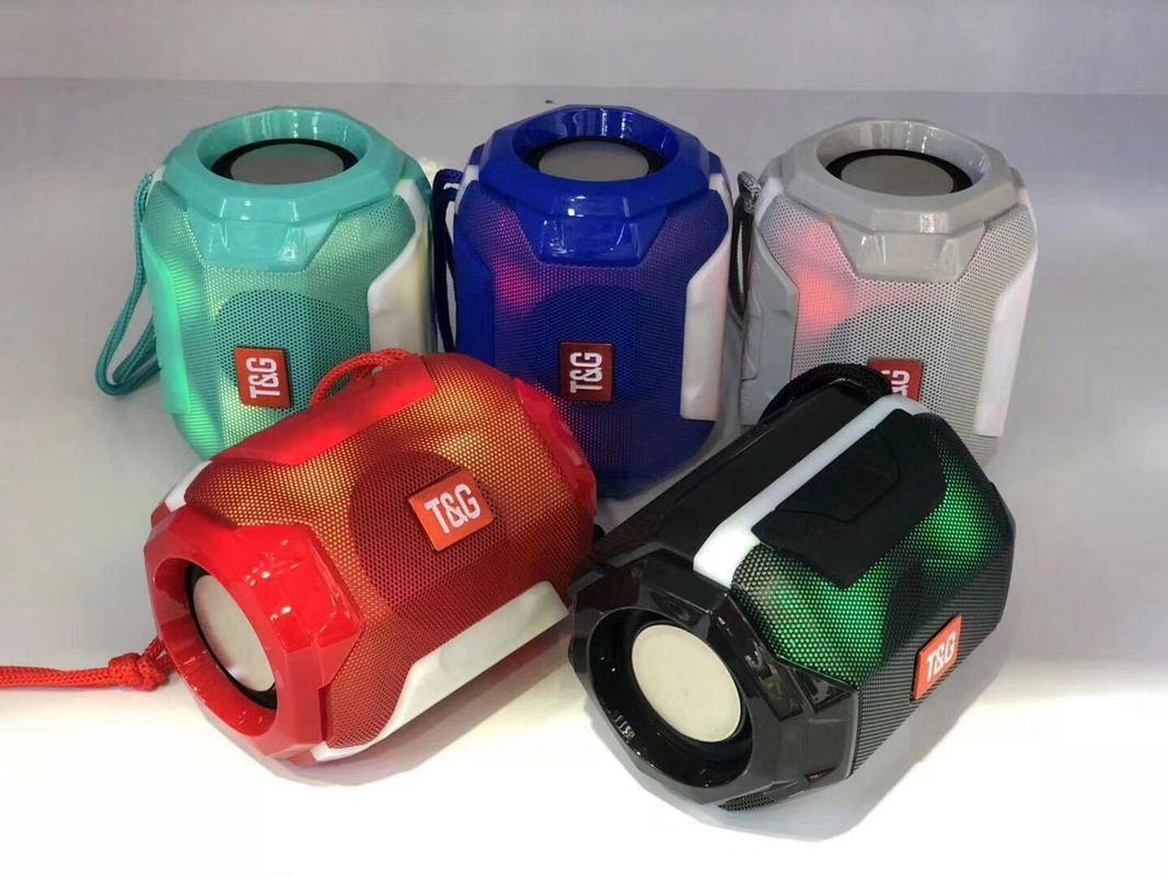 TG162 Colorful Light Portable Wireless Bluetooth Speaker Outdoor Card Subwoofer Small 5w Power Bass Sound Speaker