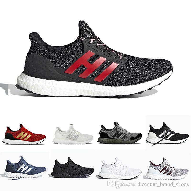 huge selection of f4036 53181 2019 CNY Red Stripes Orca Ultra boost 4.0 Running shoes Triple Black white  Burgundy Primeknit ultraboost sports trainer men women sneakers