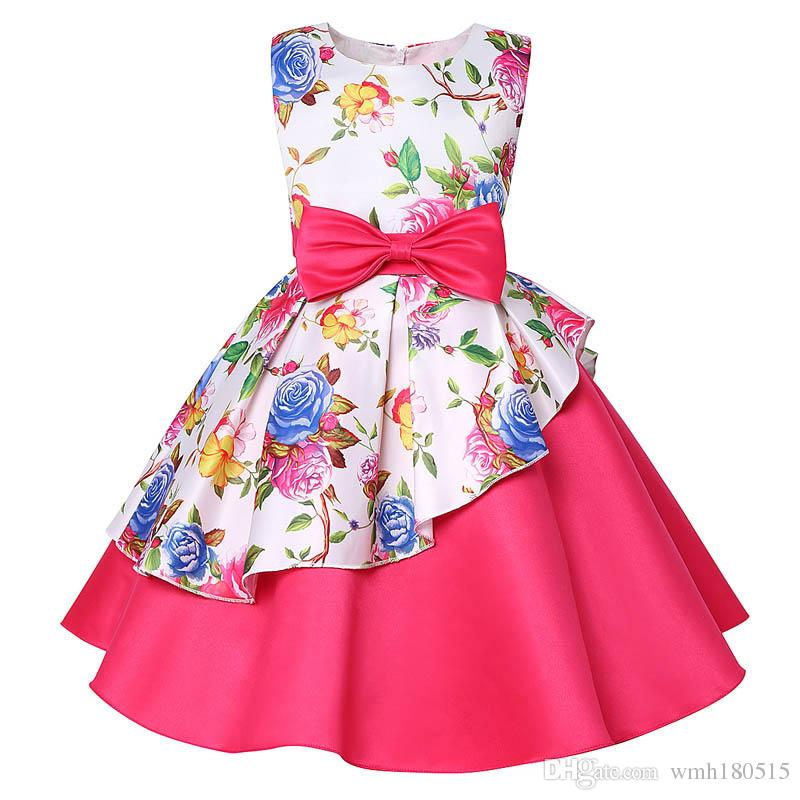 new style baby girl spring summer dress kids frock dress baby girl birthday easter party dress child skirt clothes