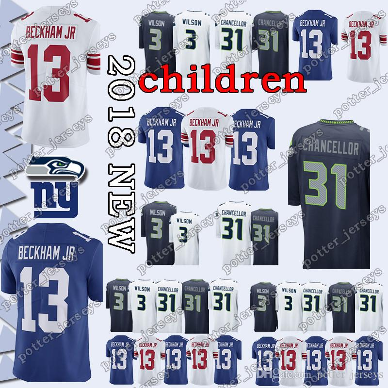 YOUTH Seattle Seahawk Jersey 3 Russell Wilson 49 Shaquem Griffin New ... f3fa1b612