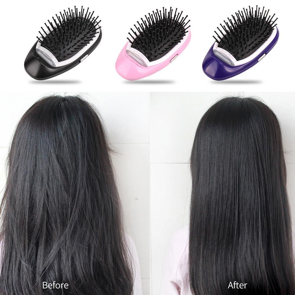 Anti-static Comb Hair Brush Electric Hair Ionic Brush Tools Portable  Massage Combs For Living Room Style Women Girls Hair