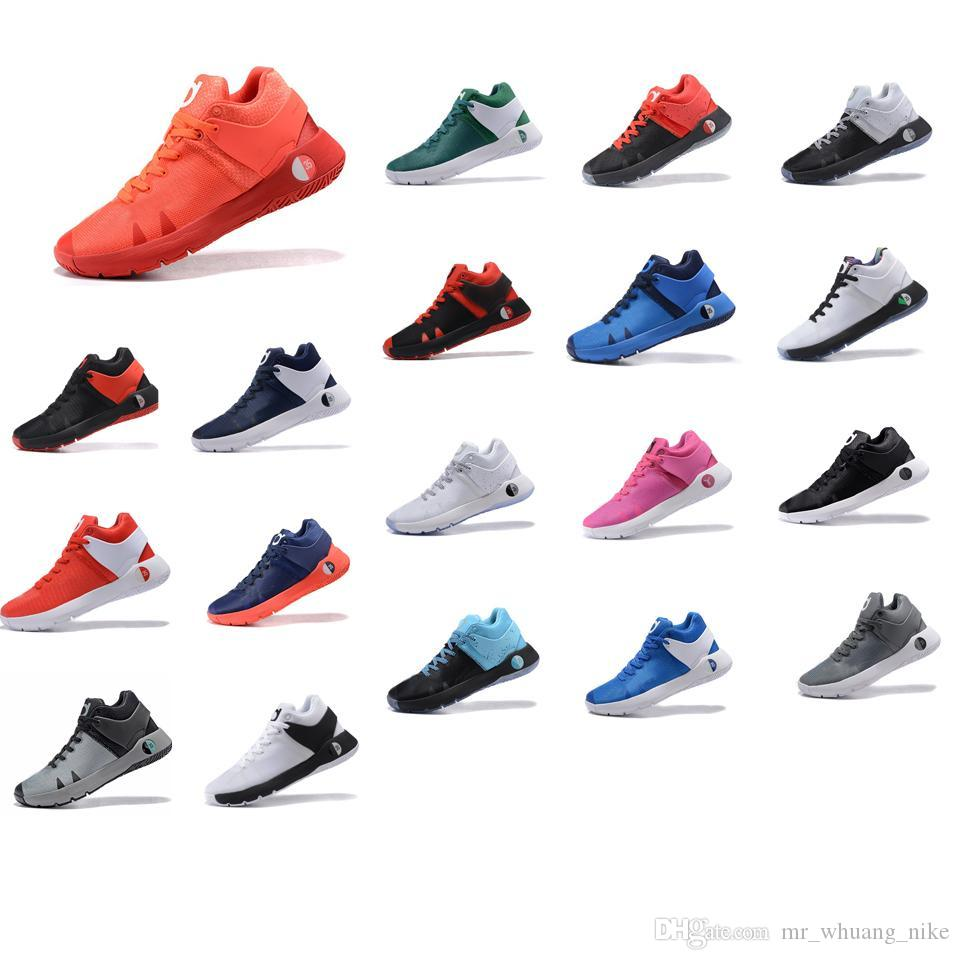 c0408765881 2019 Cheap Mens Kd Trey Iv Ep Basketball Shoes Team Red Blue Wolf Grey Black  White Youth Kids Kds Kevin Durant 5 V Low Sneakers Tennis With Box From ...