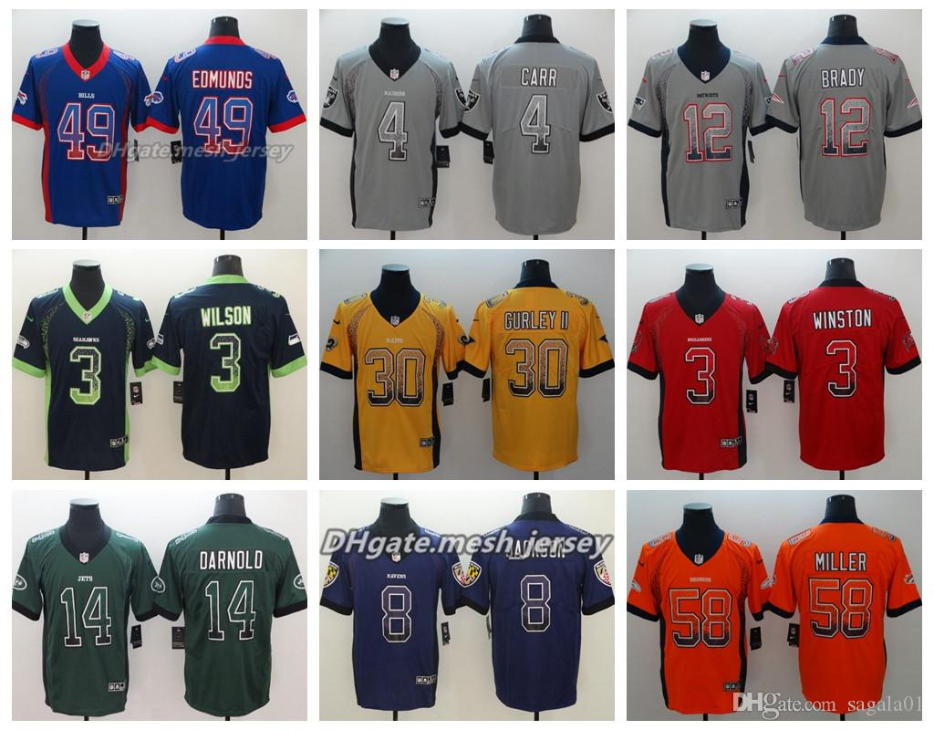 low priced e109c 7df97 2019 Drift Patriots Philadelphia Eagles Jersey New York Jerseys Jets Ravens  New Orleans Saints Tampa Bay Buccaneers Color Rush Football
