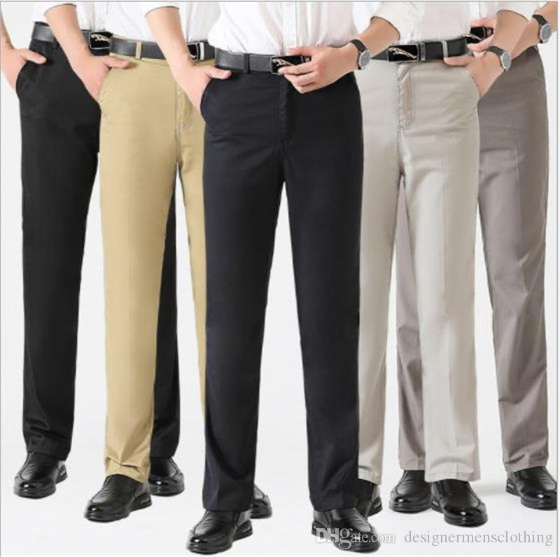 Mens High Waist Pants Straight Tube Loose Trousers Casual Designer Straight Plus Size Long Male Clothing