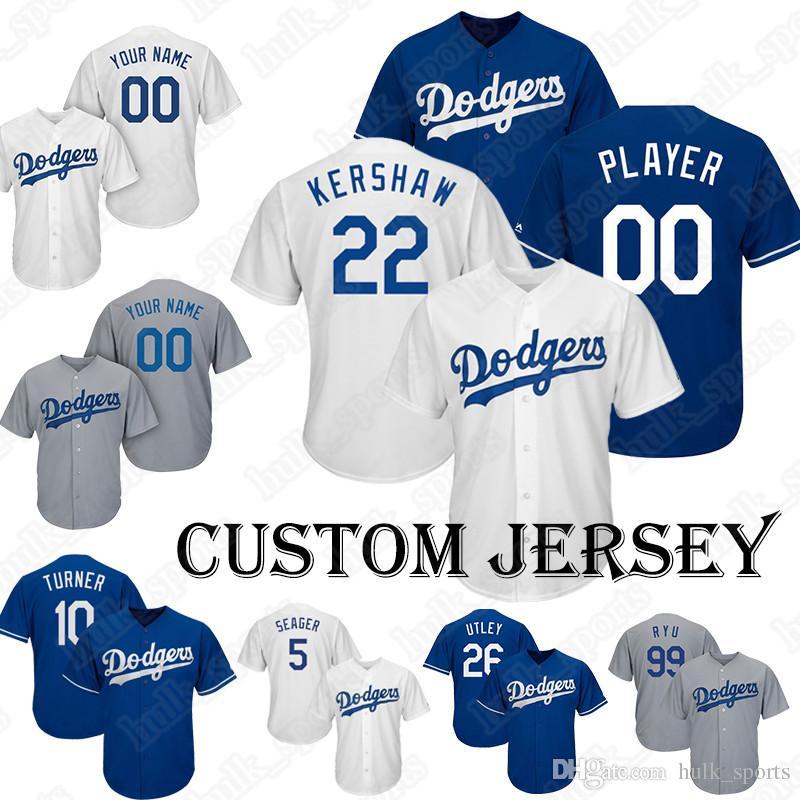 save off 49276 7e138 Dodgers jerseys 22 Clayton Kershaw jersey Baseball Custom jerseys 75  Alexander 52 Baez 15 Barnes 35 Bellinger 21 Buehler