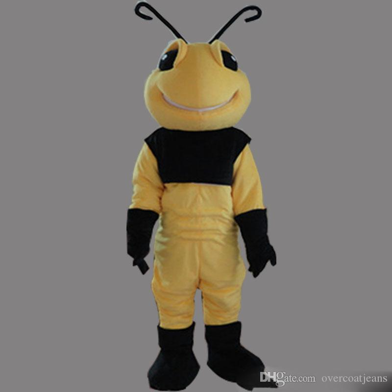 2faefb96b 2018 Discount Factory Sale Bee Mascot Custom Insect Bees Male Fancy Dress  Costume Shool Event Birthday Party Costume Mascot Discount Halloween  Costumes ...