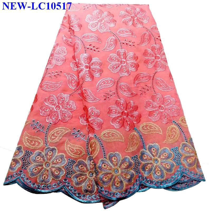 Hot Sale African Cotton Lace Fabric 2019 High Quality Swiss Voile Lace in Switzerland Nigerian Dry Lace for Women/Men XSA010