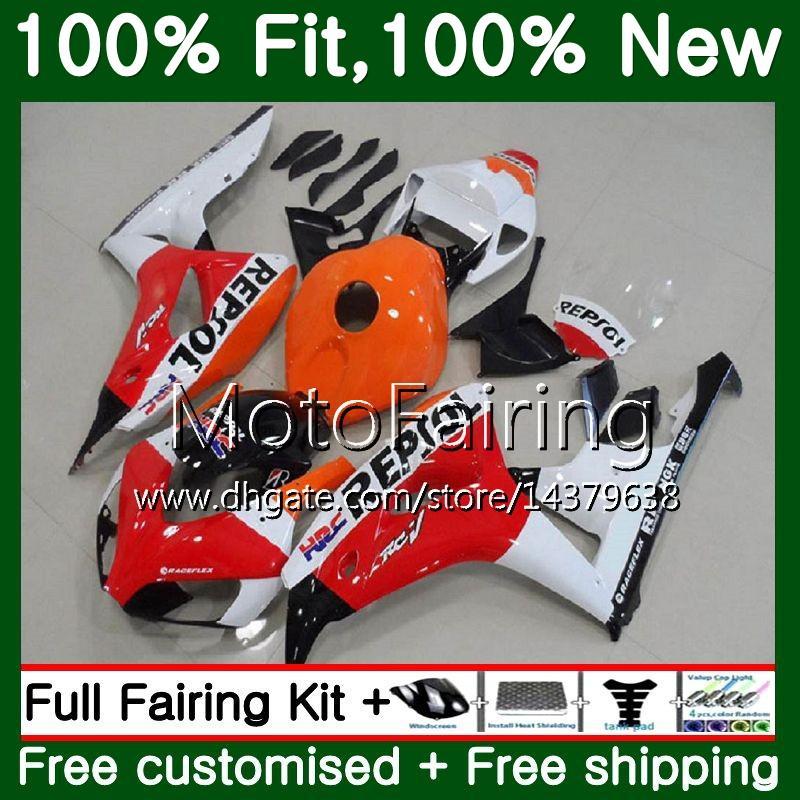 혼다 용 CBR1000 RR CBR 1000RR 06 07 렙솔 레드 키트 52MF6 CBR 1000 RR 2006 2007 CBR1000RR 06 07 100 % 맞춤형 차체