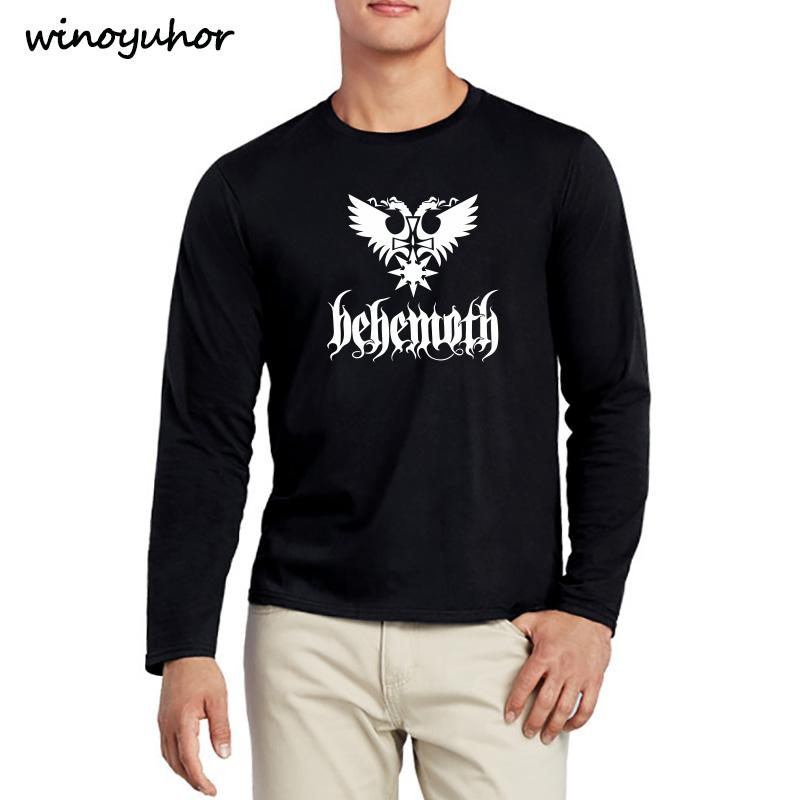 Compre Nuevo Hip Hop Death Heavy Metal Punk Band Behemoth Eagle Camisetas  Hombre Casual Manga Larga Camisetas Camisetas Tops Tops Camisetas De La  Novedad A ... 26aaf813da6