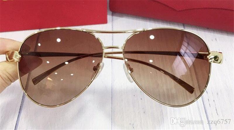 e5a8ca0c29 New Fashion Designer Sunglasses 8200993 Metal Pilots Frame Popular ...