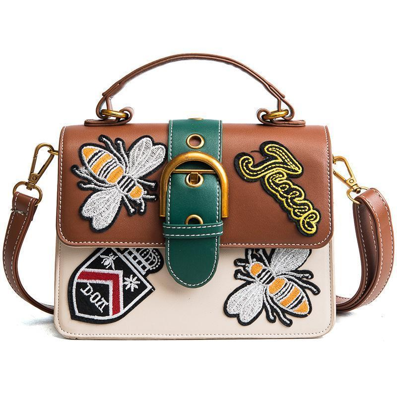 9ed96073e0 Wholesale National Vintage Embroidery Shoulder Bag Women Floral Bee Embroidered  Handbags Ladies Small Lock Crossbody Bag Bee Handbag Women Handbag Online  ...