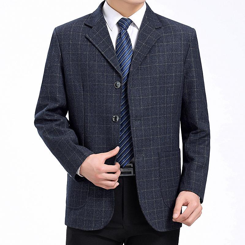 efc21c1ad77cc WAEOLSA Men Little Plaid Blazers Gris Suit Coats Man Check Pattern Blazer  Hombre Business Outfits Male Suit Jackets Spring Autum Canada 2019 From  Cacy