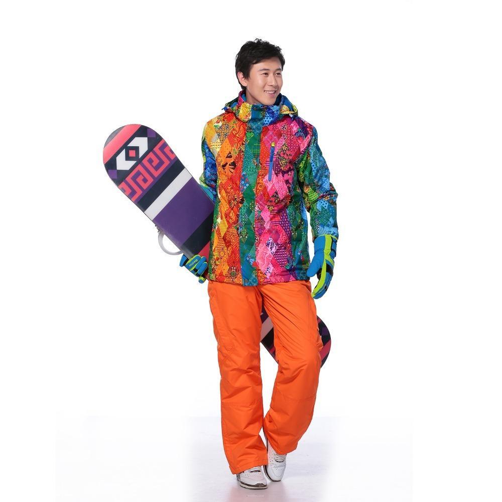 bb566e22d Compre Homens Terno De Esqui Ao Ar Livre À Prova D  água Windrpoof Macacão  De Inverno Esporte Montanha Jaqueta De Neve E Calças Marca Conjunto De Esqui  ...