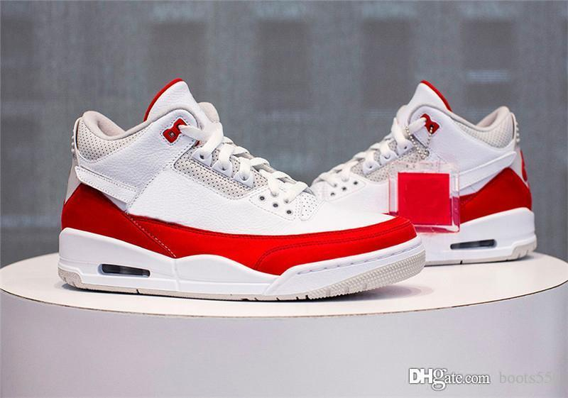 more photos 801f3 b3370 2019 Retro Release 3 JTH Tinker White University Red Air Authentic 69AirMax  1 Neutral Grey Men Women Basketball Shoes Sneakers CJ0939-100