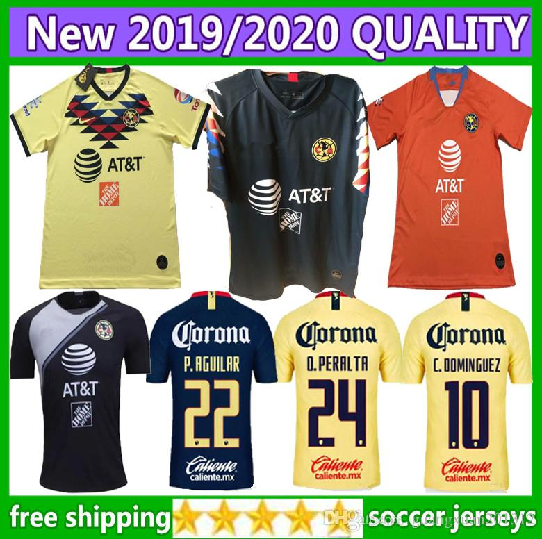e0abab3c000 2019 Size S XXL 2019 LIGA MX Club America Soccer Jerseys Home Away 19 20  O.PERALTA I.RENATO C.DOMINGUEZ MATHEUS Mexico Football Shirt From  Guangxuan201312