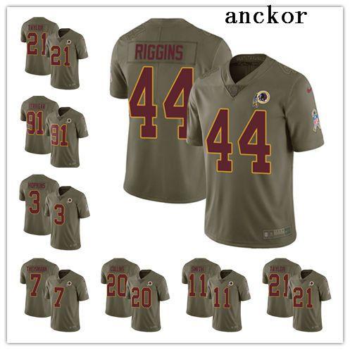 size 40 be205 edb87 Washington MEN WOMEN YOUTH 7 Dwayne Haskins 91 Ryan Kerrigan Limited Jersey  Football Redskins Olive 2017 Salute to Service