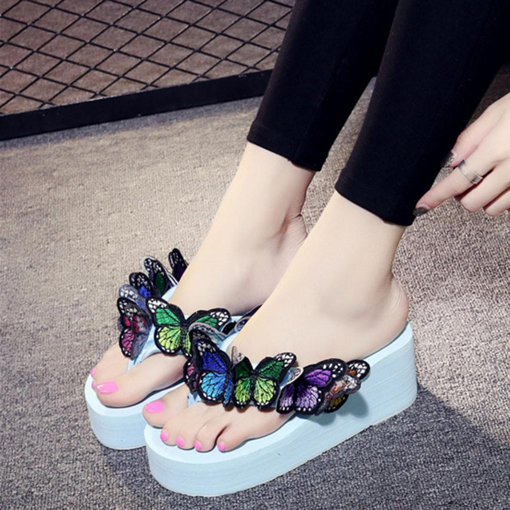 2a94acfeb Women Sandals Design Thong Flip Flops Sandals Women Girls Butterfly Floral  Wedges Flip Flops Slippers Beach Shoes g4 Western Boots Discount Shoes From  ...