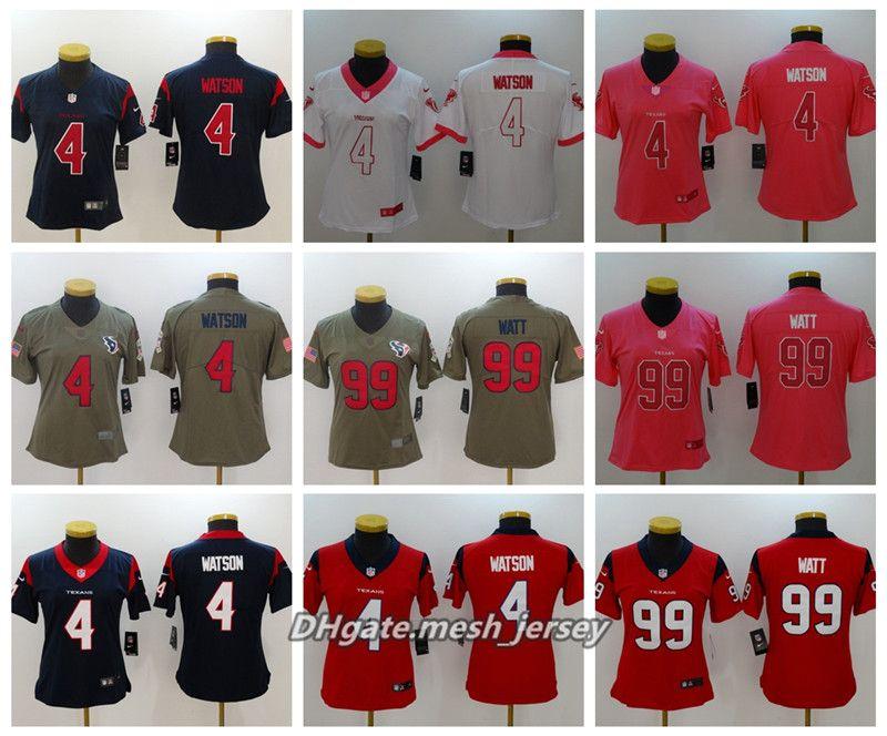 2019 Women Houston Texans American Football Jersey 99 J.J. Watt 4 Deshaun  Watson 23 Foster Color Rush Stitching Jerseys From Lama001 b398a9d54