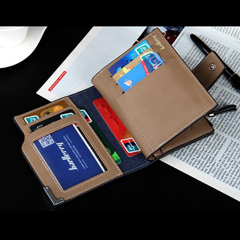 Baellerry marca Portafoglio uomo in pelle da uomo portafogli borsa piccola corta maschile in pelle portafoglio uomo soldi sacchetto di garanzia di qualità