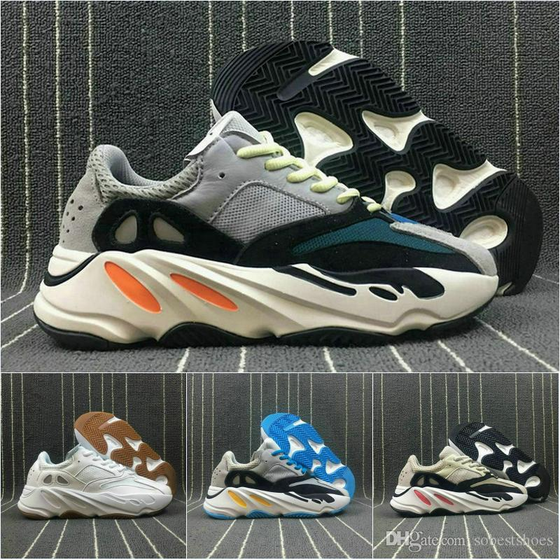 e6667b071 Desinger ShoesDiscount Kanye West Boost Retro Wave Runner 700 Grey Causal Shoes  Boost Mens Women Solid Grey Chalk White Core Black Sneakers Online with ...