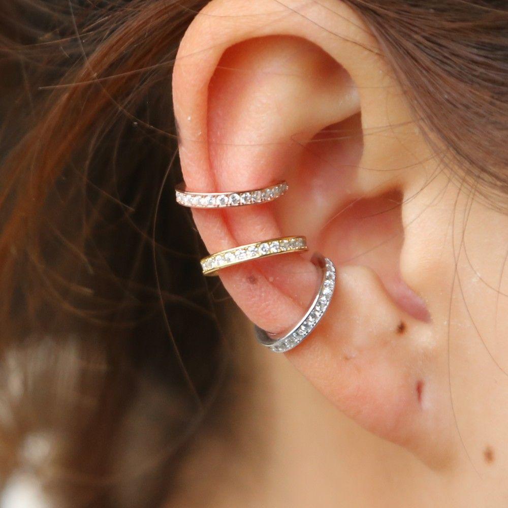 1f877c057a35 Compre Plata De Ley 925 Pendientes Ear Cuff Clip On Round Cz Circle Stack  es No Piercing Pendientes De Mujer Accesorios A  9.21 Del Beilejia20170708  ...