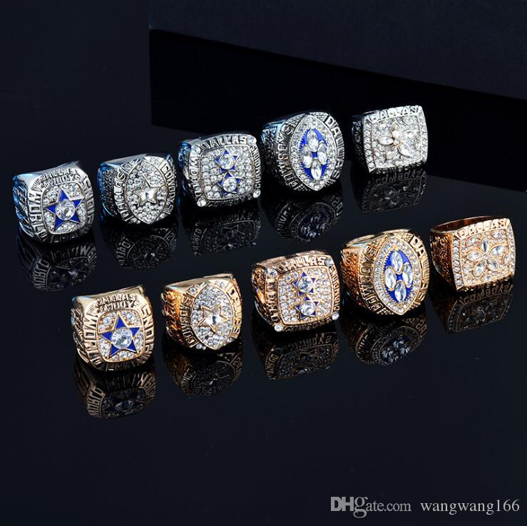 9c25f1d167574 5 Rings/Set 1971 1977 1992 1993 1995 Dallas Cowboys Championship Souvenir  Replica Suit Ring With Box Men Stainless Steel Jewelry Gift