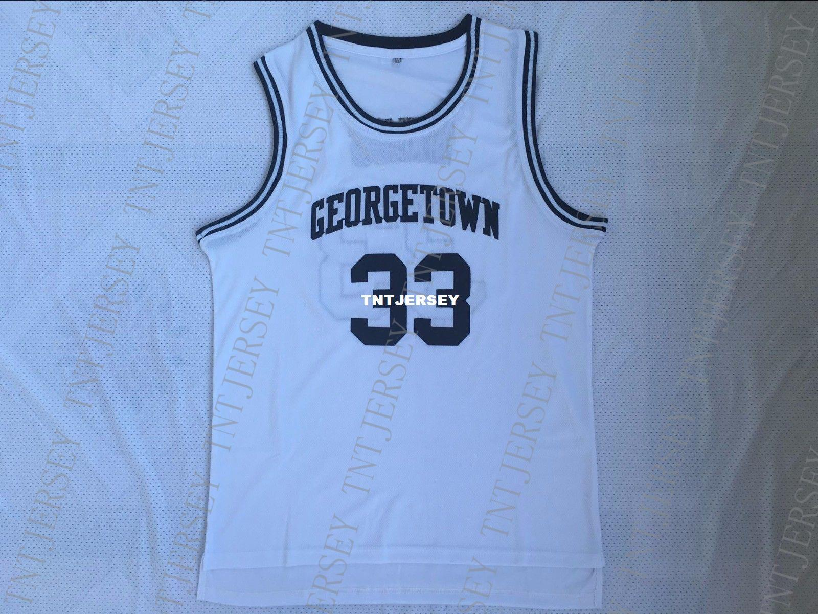 best sneakers dc9ce 39baa Cheap custom Vintage Patrick Ewing #33 Georgetown Hoyas College Jersey  White Stitched Customize any number name MEN WOMEN YOUTH XS-5XL