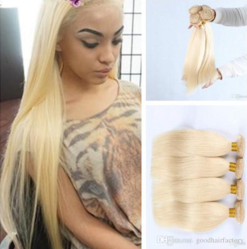 2019 Hot Sale!! Brazilian Bleached Blonde Straight Hair Weave 613# Remy  Virgin Human Hair Bundles 100% Unprocessed From Goodhairfactory, $26.14 |  DHgate.Com
