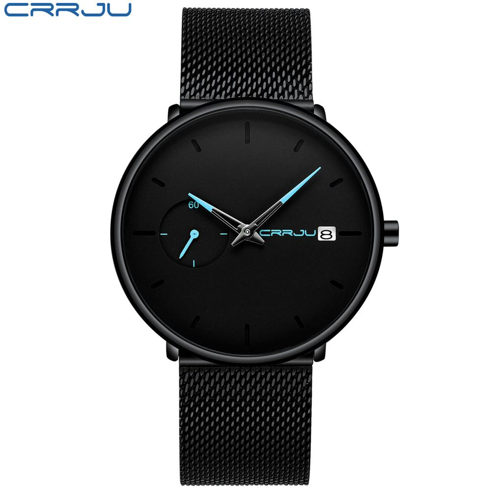 aa48293e06c9 Compre CRRJU Reloj De Los Hombres A Prueba De Agua Fecha Calendario Relojes  Analógicos Relojes Hombre De Negocios Casual Relojes De Cuarzo Para Hombre  Reloj ...