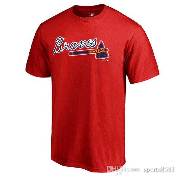 buy popular 75cf0 c1f96 Hot Sales 2019 MLB new season Atlanta Braves Ozzie Albies Johan Camargo  custom any Name Number Men and Women sweatshirts T-Shirts