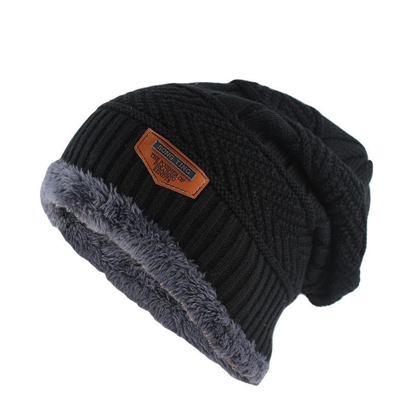 2f6f0a2e4f52 2019 Korean Black Winter Hats For Men Women Thick Warm Soft Knitted Beanies  Fashion Solid Hip Hop Beanie Hat Unisex Cap From Annuum, $39.68 | DHgate.Com