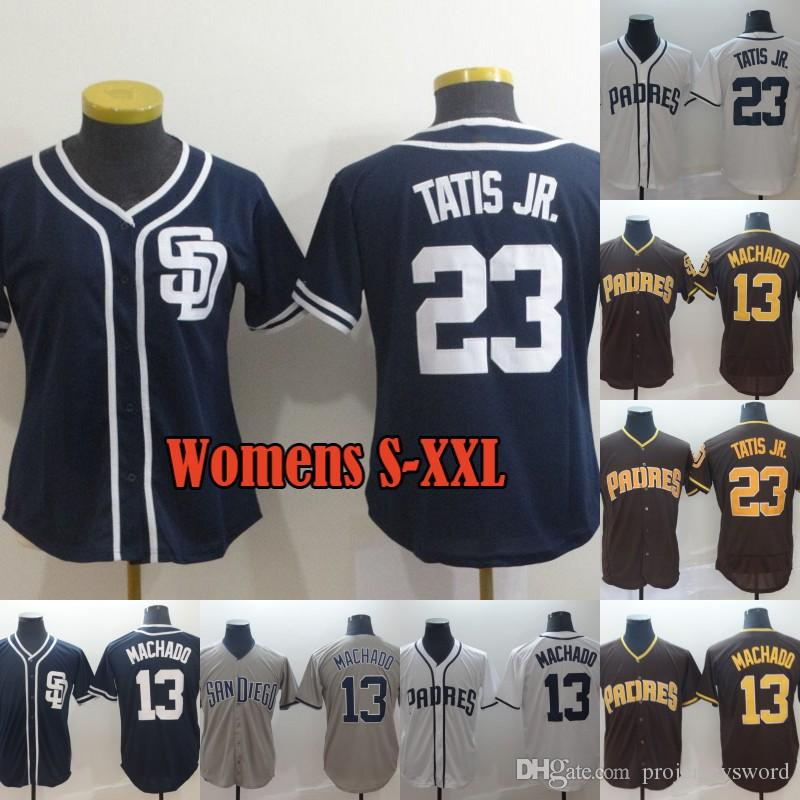 5fb72060d 2019 Lady & Mens San Diego 23 Fernando Tatis Jr. 13 Manny Machado Jersey  100% Stitched Padres Baseball Jerseys Cheap Fast Shipping S XXXL From ...