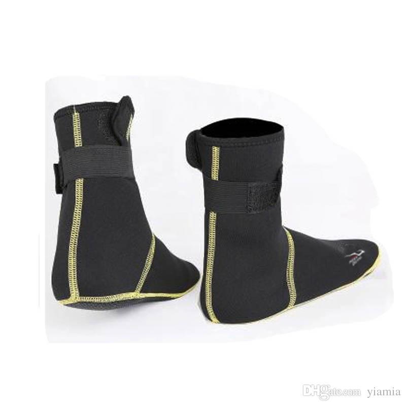 Plage Chaussures Natation Bottes Plongée Marine De Snorkeling Chaussettes 3mm Bord Réchauffement Antidérapant La Néoprène Hiver De Mer Sous Rayures SUpzMGqV
